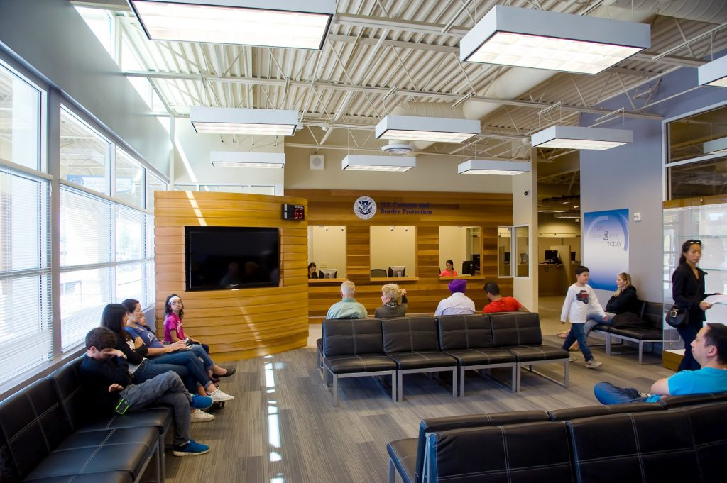 Waiting Room Elevation : Redesign of the trusted traveler enrollment center in